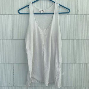 Forever 21 White Basic Tank Top, Size Large